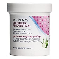 Almay Eye Makeup Remover Pads Gentle Soothing & De-Puffing 80 pads