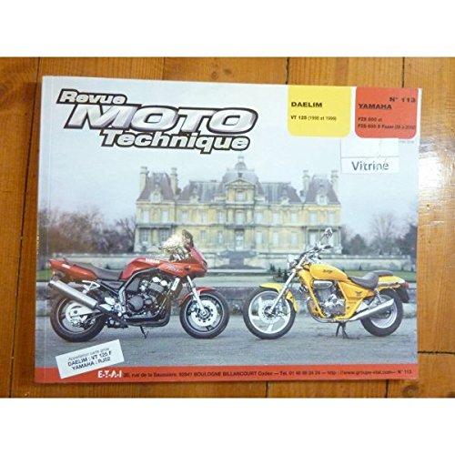 RRMT0113.2 REVUE TECHNIQUE MOTO - DEALIM VT125 de 1998 et 1999 YAMAHA FZS 600 FAZER de 1998 et 1999 par ETAI (Relié)