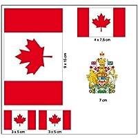 Aufkleber Set Kanada Fahne Flagge