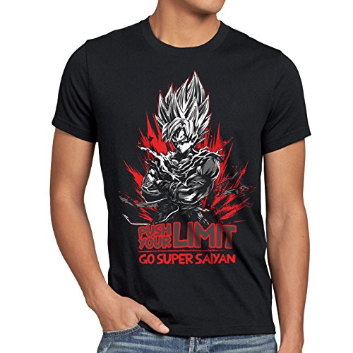 style3 Push Your Limit Herren T-Shirt Roshi Ball z Roshi Songoku Dragon, Größe:S - Dragon T-shirt Shorts