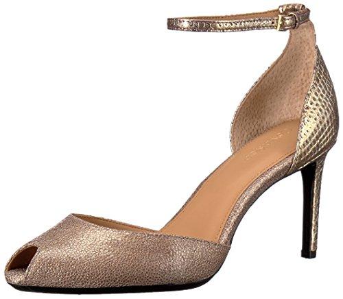 Calvin Klein Saiden Heel Femmes Cuir Talons Cocoon-Gold