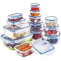 QCen boîtes de conservation alimentaire avec couvercles 26 pièce (13 récipient, 13 couvercle) Rangement en plastique…