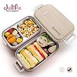 Jelife Bento Box Lunch Box 2 Livelli Lunch Box Stile Giapponese con Scomparto per Alimenti Contenitori per Alimenti Lunch Box Forno a microonde Congelatore Lavastoviglie Scatole Bento-Rosa