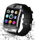 Montre Connectée, Bluetooth Smart Watch Etanche Montre Intelligente avec Caméra Montre Téléphone Sports Bracelet (Q18)