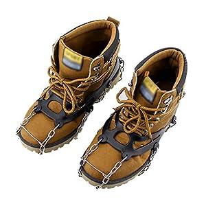 Vkospy 1 Par 10-Stud Deportes Antideslizante Hielo Pinza Senderismo Tacos Sube Zapato de Arranque apretones Crampón Cadena