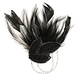 MagiDeal 1920er Jahre Haarklammer Vintage Haarspangen Künstliche Feder Haarclip Haarschmuck Kopfschmuck