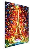 Abstrakt Eiffelturm von Leonid Afremov City Drucke Leinwand Bilder Wanddekoration modern art poster, canvas holz, 04- 30