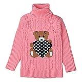 Maglione lavorato a maglia maglione ragazzi - 2017 Autunno / Inverno bambini manica lunga con collo alto maglione caldo vestiti felpa outwear per 2-5 anni