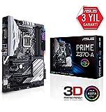 Asus PRIME Z370-A Scheda Madre con Dissipatore di Calore M.2, Intel LGA 1151 ATX, DDR4 4000 MHz, Dual M2, Memoria Intel Optane, SATA 6 Gb/s, USB 3.1 Gen 2 Type-C, Nero