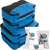 Packing Cubes 4pcs Value Set for Travel – Plus 6pcs Luggage Organiser Zip Bags (Blue)