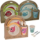 LS Design Bambus Öko Kindergeschirr Set Wal 5tlg Bamboo Eco-Friendly