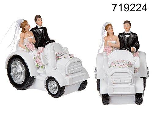 Statuina TRATTORE matrimonio sposo sposa NOZZE coppia sposi nuziale