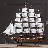 Decoured Geschichte der Zeit das Mittelmeer Segeln Modell Simulation von Schiff Holz dekorative Ornamente Holzschiff Holz- Segeln Handwerk alles reibungslos verläuft.