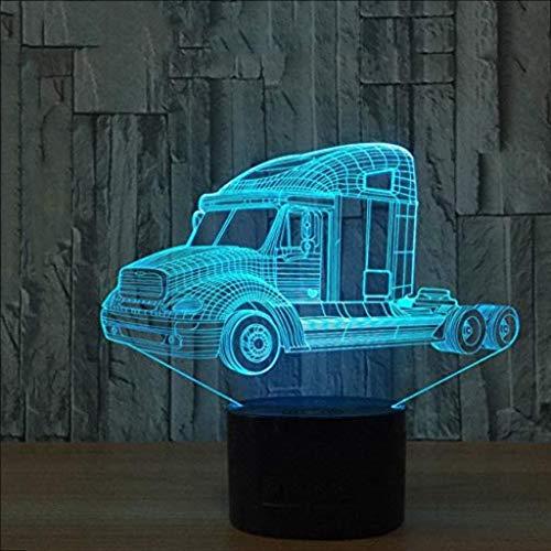 Sicherheit Schwere LKW 3D Nachtlicht, Auto Licht USB 7 Farbwechsel, Fernbedienung Touch Switch LED Innen Schlafzimmer Licht Party Dekoration Lichter Kind -