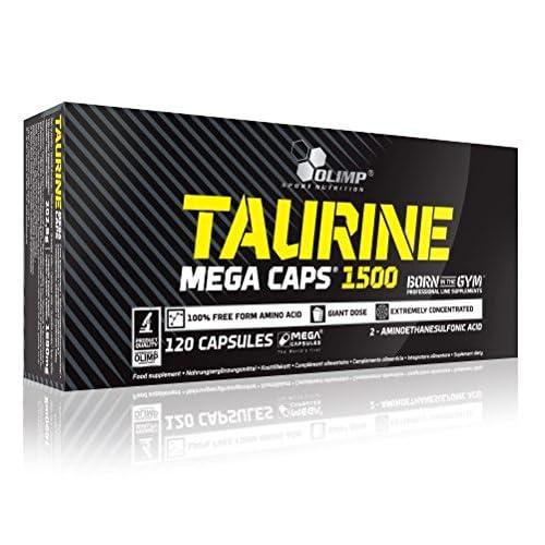 Olimp Labs Taurine Capsules, 1500 mg, Pack of 120 Mega Capsules