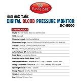EasyCare EC-9000 Digital Blood Pressure Monitor (White)
