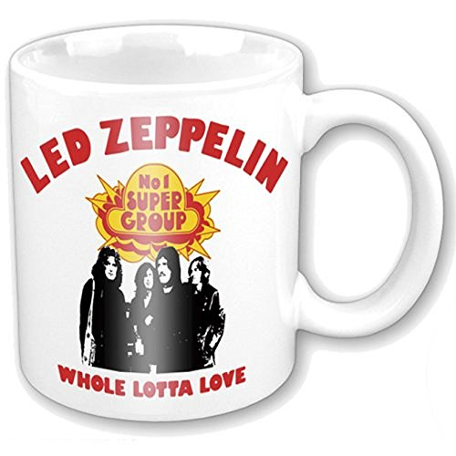 empireposter - Led Zeppelin - Whole Lotta Love - Größe (cm), ca. Ø8,5 H9,5 - Lizenz Tassen, NEU - Led Zeppelin Boxed Mug: Whole Lotta Love - Beschreibung: - Keramik Tasse, bedruckt, Fassungsvermögen 320 ml, offiziell lizenziert, spülmaschinen- und mikrowellenfest - (Led Zeppelin Kaffeetasse)