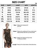 BABEYOND Damen Kleid voller Pailletten 20er Stil Runder Ausschnitt Inspiriert von Great Gatsby Kostüm Kleid (Gold und Schwarz, XXXL (Fits 96-100 cm Waist))