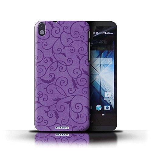 Kobalt® Imprimé Etui / Coque pour HTC Desire 816 / Rose conception / Série Motif de la vigne Pourpre