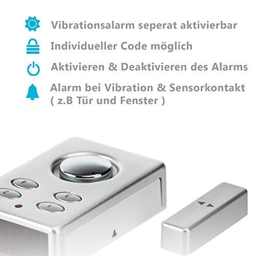 KOBERT GOODS – SP65 SILBER drahtloser Tür Fenster Garage oder Vitrinen Alarm - 2