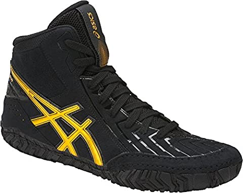 ASICS Men's Aggressor 3 Wrestling-Shoes, Black/Rich Gold, 13 Medium