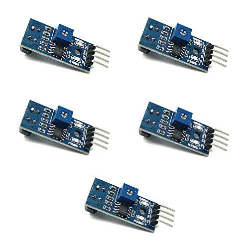Homengineer 5X Reflektive Lichtschranke IR Linetracker Kontrasterkennung TCRT 5000 mit Analog und Digitalausgang f. Arduino Raspberry Pi etc. Lichtschranke Sensor