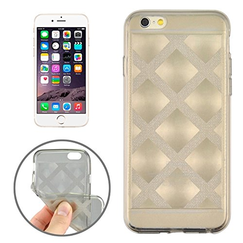 Phone case & Hülle Für iPhone 6 Plus & 6S Plus, Ultra-dünne schimmernde Puder 3D Diamond Pattern TPU Fall ( Color : Transparent ) Grey