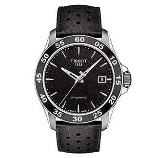 Tissot Reloj Analógico para Hombre de Automático con Correa en Cuero T008.217.16.111.00