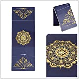 Ucooly Hot Yoga Towel,Non Slip Mat Towel with Smart Corner Pockets and Elastic