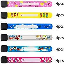 pulsera seguridad niños ZoomSky 24pcs para evitar perder bebes de pulsera niño ID impermeable de pulsera
