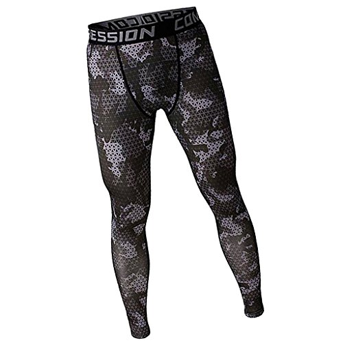 MagiDeal Mens Fashionable Casual Sportswear Exercise Gym Fitness Legging Running Tight Trousers Workout Sport Pants Grey M