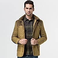Hombres chaqueta acolchada de algodón acolchada chaqueta Chaqueta de moda casual, un 3XL