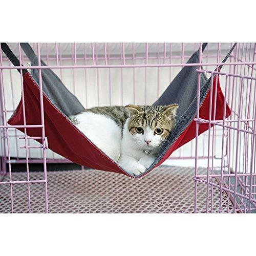 Cat Pet Käfig Hängematte, PET Aufhängen Bett atmungsaktives Mesh 2in 1Sommer & Winter Hängematte Bett Matte für Frettchen Katze Little Animal. (Metall-hasen Käfig)