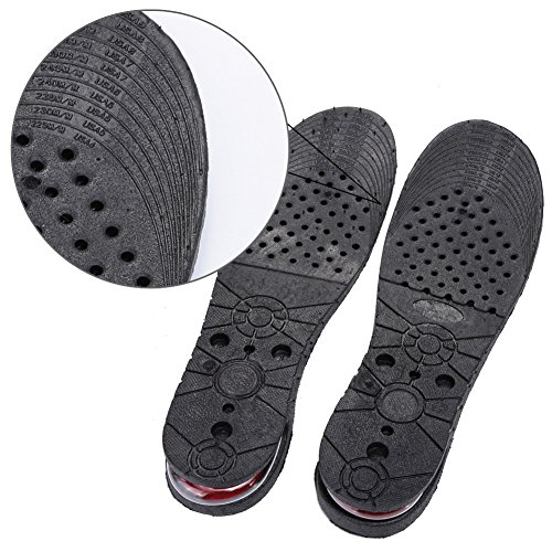 Fuloon Einlegesohle 9cm (3,54 Zoll) 3 Layer Erhöhung Einlegesohle Taller Pad Schuherhöhung