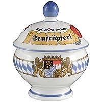 Traditionellen Stil Aus Wei/ßem Porzellan Bedeckt Senftopf Mit L/öffel Packung mit 6