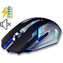 UrChoiceLtd® 2017 Evesky X7 batería 2,4 gHz inalámbrico ratones Silencioso USB ratón óptico ergonómico PC Gaming ratón para ordenador