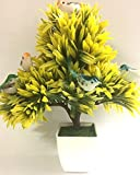 #7: Hyperboles Big Artificial Plant Tree Bonsai With Hanging Birds With Pot(19 Inches)