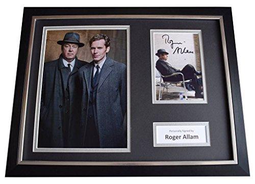 Sportagraphs Roger Allam Signed Framed Photo Autograph 16x12 display Endeavour TV AFTAL COA
