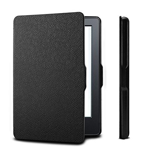 Infiland Custodia per Kindle (8 Generation- 2016 Modell) 6 Pollici eReader (Non per Kindle Paperwhite, con Auto Sonno/Veglia Funzione),Nero