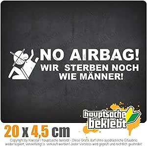 Kiwistar No Airbag 20 X 5 Cm In 15 Farben Neon Chrom Jdm Sticker Aufkleber Auto