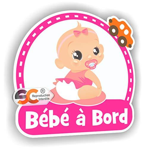Autocollant b/éb/é /à Bord Enfant Mod/èle Fille//Fille Jumelles /à Bord Fille//Fille Jumelles