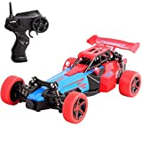 deAO Formel 1 RC Rennauto 2,4 GHz Fernsteuerung Hochgeschwindigkeits-Fahrzeug Spielzeug Auto 2WD Offroad Buggie (rot)