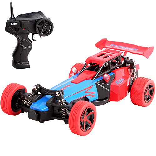 deAO RC Racing Car 2DW High Speed Radio Control Vehicle 2.4GHz (F1 Red)