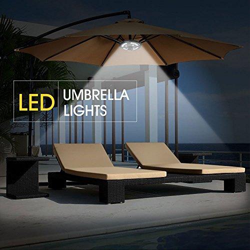 Illuminazione Per Ombrelloni Da Giardino.Ikalula Lampada Per Ombrellone 24 Led Esterno Illuminazione