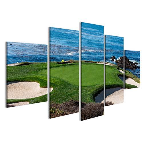 islandburner Bild auf Leinwand EIN Blick auf Loch 7 bei Pebble Beach Golf Links, Monterey, Kalifornien, USA Wandbild, Poster, Leinwandbild FYQ