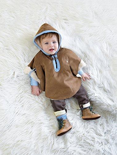 BLH Babylederhose LANG und KURZ (aus Baumwolle, in Lederhosenoptik) von Mogo.cc Braun