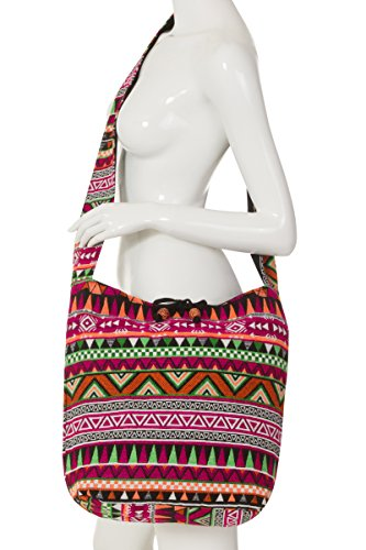 ThaiUK, Borsa a zainetto donna rosa Large Sling Pink small Large Sling Pink