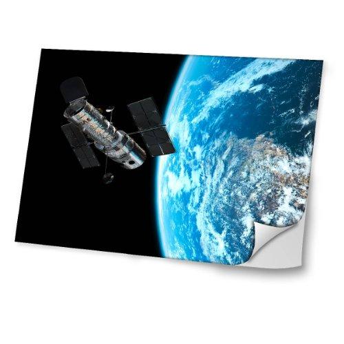 """Weltraum 10173, Raumfahrzeug, Skin-Aufkleber Folie Sticker Laptop Vinyl Designfolie Decal mit Ledernachbildung Laminat und Farbig Design für Laptop 15.6"""""""
