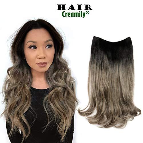 Creamily - Peluca media peluca forma U rizada ondulada