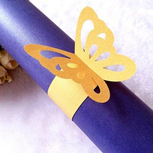 g Schmetterling mit Hochzeit Bankett Tisch Serviette, Schnalle, gelb, Siehe Produktbeschreibung ()